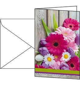 sigel Designkarte, Neutral, Klappkarte mit Umschlag, 11,5 x 17 cm, bunt