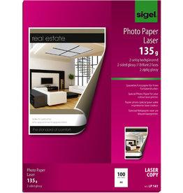 sigel Laserpapier Photo Paper glossy, A4, 135 g/m², weiß, glänzend