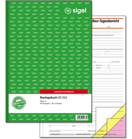 sigel Bautagebuch, A4h, 3f., sd, 1./2./3.Bl.bedr., 3x40Bl.