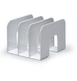 DURABLE Prospekthalter TREND, für Tisch, 3 Fächer, weiß