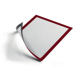 DURABLE Sichtrahmen, magnetisch, PVC-Hartfolie, A4, rot