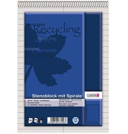 LANDRÉ Spiralnotizblock Recycling, liniert mit Mittellinie, A5, RC, 40 Blatt