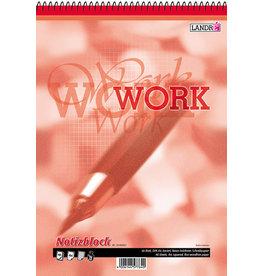 LANDRÉ Spiralnotizblock WORK, kar., A4, 70g/m², TCF, weiß, 40Bl.
