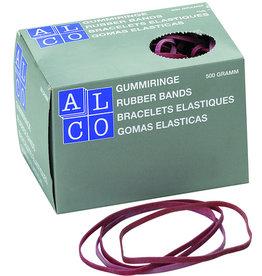 ALCO Gummiband, Schachtel groß, SB: 6 mm, FM: 200 mm, rot