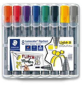 STAEDTLER Flipchartmarker Lumocolor® 356, Rsp./Ksp., Schreibf.: 8er sortiert