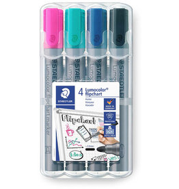STAEDTLER Flipchartmarker Lumocolor® 356, Rundspitze, 2 mm, Schreibf.: 4er so