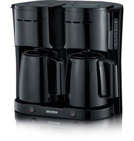 SEVERIN Kaffeemaschine, KA 5829 Duo, 2 x 1 l, für: 2 x 8 Tassen, schwarz