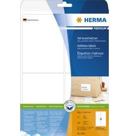 HERMA Adressetikett, Schreibmaschine, auf A4-Bogen, sk, 99,1x139mm, weiß