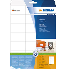 HERMA Etikett, I/L/K, sk, 70 x 42,3 mm, weiß