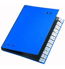 PAGNA Pultordner, PP-kasch., A-Z, A4, 26,5x34cm, 24 Fächer, blau
