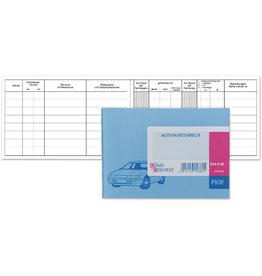 K&E Fahrtenbuch, für PKW, Glanzkarton, A6 quer, 40 Blatt