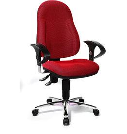 TOPSTAR Bürodrehstuhl Wellpoint 10, rot, Stahlfuß, Stoff, rot