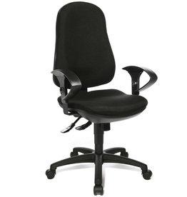 TOPSTAR Bürostuhl SUPPORT SY, mit Armlehnen, Stoff, schwarz