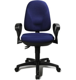 TOPSTAR Bürodrehstuhl Point 45, blau, mit Armlehnen, R-Form, blau