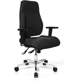 TOPSTAR Bürostuhl P91, stoffbezogene Lehne, mit Armlehnen, Stoff, schwarz