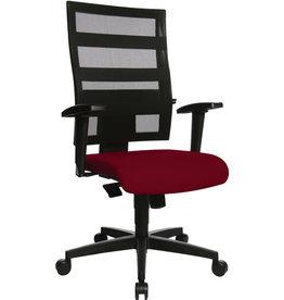 TOPSTAR Bürodrehstuhl Net X-Pander, ohne Armlehnen, rot