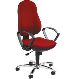TOPSTAR Bürodrehstuhl Synchro Steel mit Armlehnen, rot