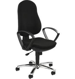 TOPSTAR Bürodrehstuhl Synchro Steel mit Armlehnen, schwarz