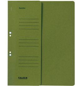 FALKEN Ösenhefter, 1/2 Vorderdeckel, kfm. Heft., A4, grün