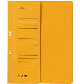 FALKEN Ösenhefter, 1/2 Vorderdeckel, Amtsheft., A4, gelb
