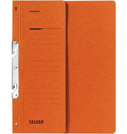 FALKEN Einhakhefter, Kart., 250g/m², 1/2 Vorderd., kfm. Heft., A4, or
