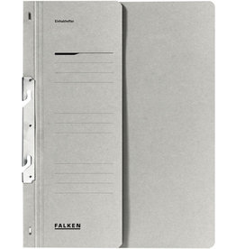 FALKEN Einhakhefter, Kart., 250g/m², 1/2 Vorderd., kfm. Heft., A4, grau
