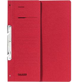 FALKEN Einhakhefter, Kart., 250g/m², 1/2 Vorderd., Amtsheft., A4, rot
