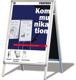 FRANKEN Plakatständer, für Innen-/Außenbereich, A1, 64 x 76 x 117 cm, silber