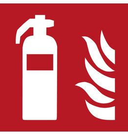 Schild, Feuerlöscher, sk, PVC-Hartfolie, 200x200mm, rot, Druckf.: weiß