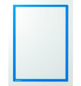 Ultradex Sichttasche, sk, PET, oben offen, A4h, farblos/blauer Rahmen