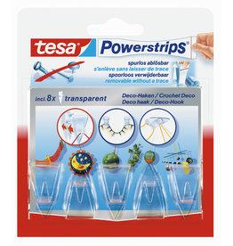 tesa Klebehaken Powerstrips® DECO, selbstklebend, farblos, transparent