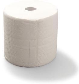 STAPLES Wischtuch, 2lagig, auf Rolle, 500 Tücher, 23,4 x 31,2 cm, weiß