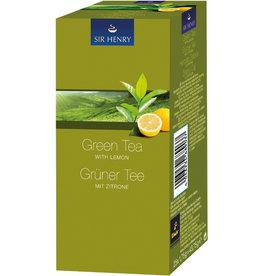 SIR HENRY Grüner Tee Grüner Tee MIT ZITRONE, Beutel aromaversiegelt, 25 x 1,75 g