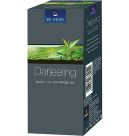 SIR HENRY Schwarztee Darjeeling, Beutel aromaversiegelt, 25 x 1,75 g