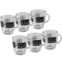xavax Kaffeetasse, mit Dekor, Mehrweg, Glas, mit Henkel, 370 ml