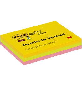 Post-it Haftnotiz Super Sticky Meeting Notes, 152x101mm, 3farbig sortiert