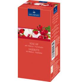 SIR HENRY Früchtetee HAGEBUTTE mit Hibiskus, Beutel aromaversiegelt, 25 x 2,5 g