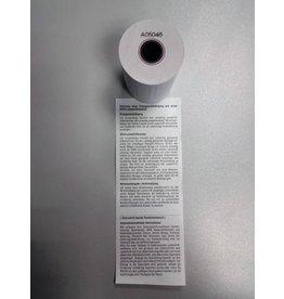 Blumberg Thermorolle, mit Druck Lastschrift, 57mmx25m, Kern-Ø: 12,3mm, weiß