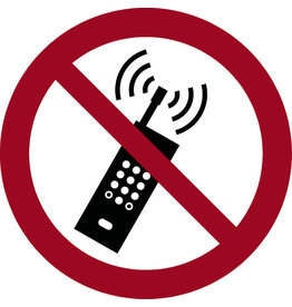 SSS SIGNUM SAFETY SIGNS Etikett, P013 - Mobiltelefone verboten, Ø: 200 mm