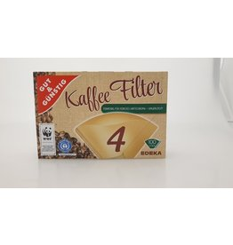 GUT&GÜNSTIG Kaffeefiltertüte, 4, braun