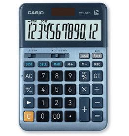 Casio Tischrechner, DF-120EM, angewinkeltes Display, 12stellig