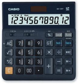Casio Tischrechner, DH-12ET, angewinkeltes Display, 12stellig
