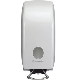 AQUARIUS* Seifenspender, für 1 l Waschlotionen, Kunststoff, abschließbar, weiß