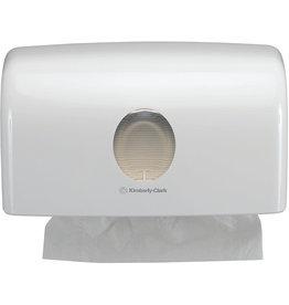 AQUARIUS* Handtuchspender, klein, Kunststoff, abschließbar, weiß