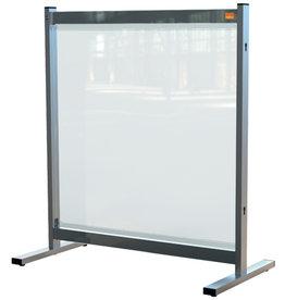 nobo Trennwand Premium Plus, f.Tische, PVC-Folie, 770x410x860mm, farblos