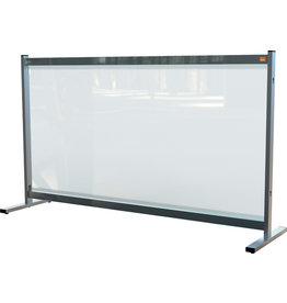 nobo Trennwand Premium Plus, f.Tische, PVC-Folie, 1.470x410x860mm, farblos