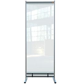 nobo Trennwand Premium Plus, tief, PVC-Folie, 780x610x2.060mm, farblos