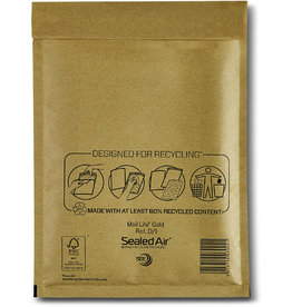 Mail Lite Luftpolstertasche, hk, Typ: D/1, 200x270mm, i: 180x260mm, Papier, gold