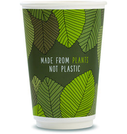 vegware™ Becher to Go, Pappe(RC)/PLA, beschichtet, ohne Deckel, 400 ml, grün