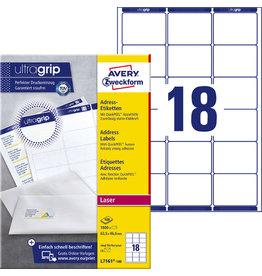AVERY Zweckform Etikett, Adressen, I/L/K, sk, Pap., abger.Ecken, 63,5x46,6mm, weiß